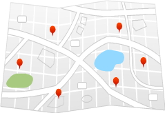 Map of hotels in Clearwater
